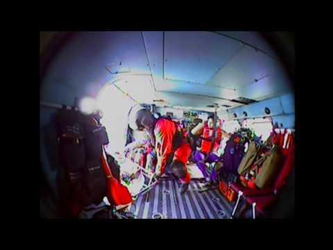 <p>The US Coast Guard medevaced a woman suffering from diabetic shock from a cruise ship off Cape Hatteras, North Carolina, on Saturday, February 18.</p><p>The  Coast Guard received calls from Royal Caribbean cruise liner Anthem of the Seas on Saturday morning concerning a 75-year-old woman needing medical care. A HC-130 Hercules aircraft and an MH-60 Jayhawk helicopter were deployed to the ship around 110 miles off Cape Hatteras and successfully hoisted the woman onto the helicopter. She was then transported to Sentara Norfolk General Hospital. Credit: US Coast Guard via Storyful</p>