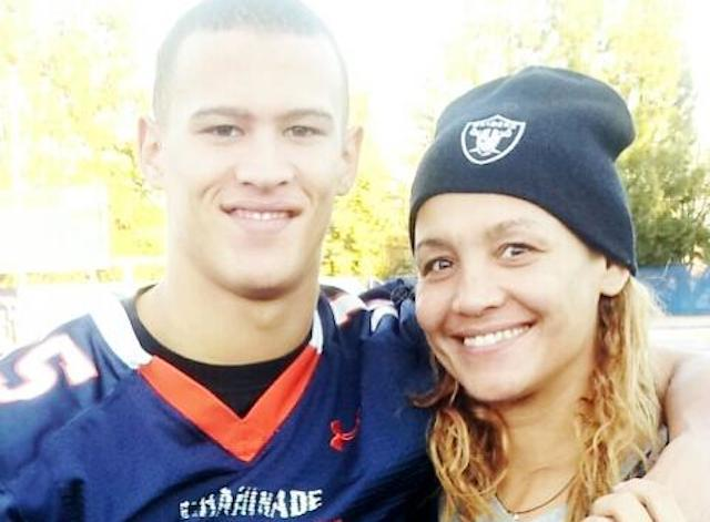 Miami quarterback recruit Brad Kaaya poses with his famous mother Angela -- Twitter