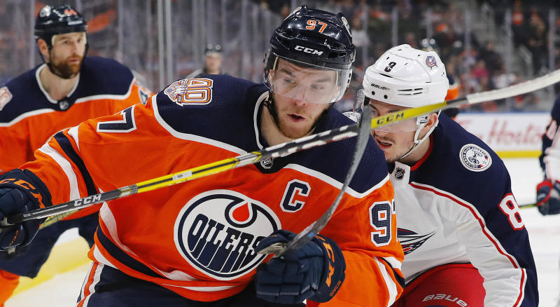 The Edmonton Oilers are reportedly adding a new jersey to their repertoire for the 2019-20 NHL season. (Perry Nelson-USA TODAY Sports)