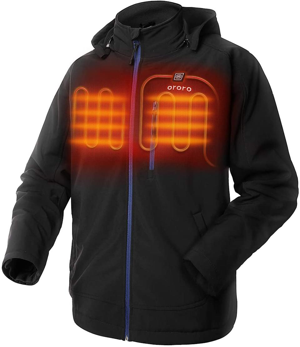 Ororo Men's Heated Jacket is on sale now for 20% off. Image via Amazon.