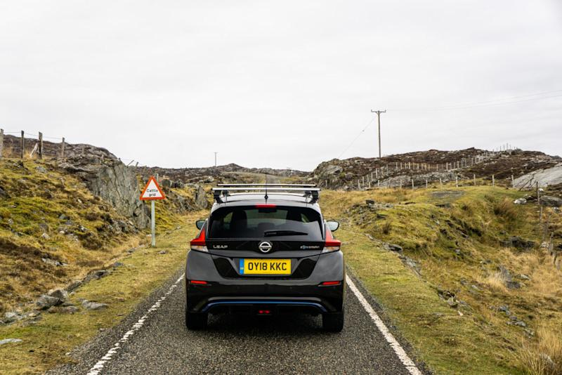 The Leaf did well in the twisting roads of Lewis and Harris