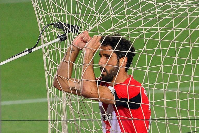Athletic Bilbao's Raul Garcia took his tally up to 13 goals for the season (AFP Photo/Pau BARRENA)
