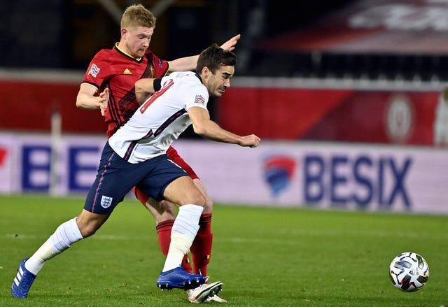 Harry Winks, right, started against Belgium in the Nations League but misses out