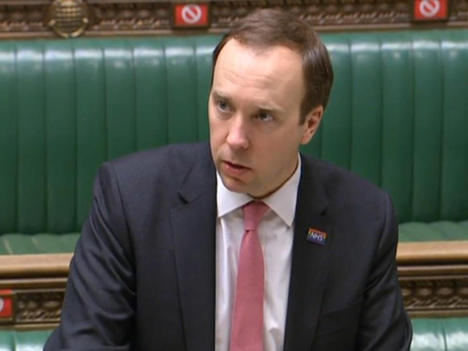 <p>Health secretary Matt Hancock will get sweeping new powers over the health service under planned changes by the government</p> (PA)