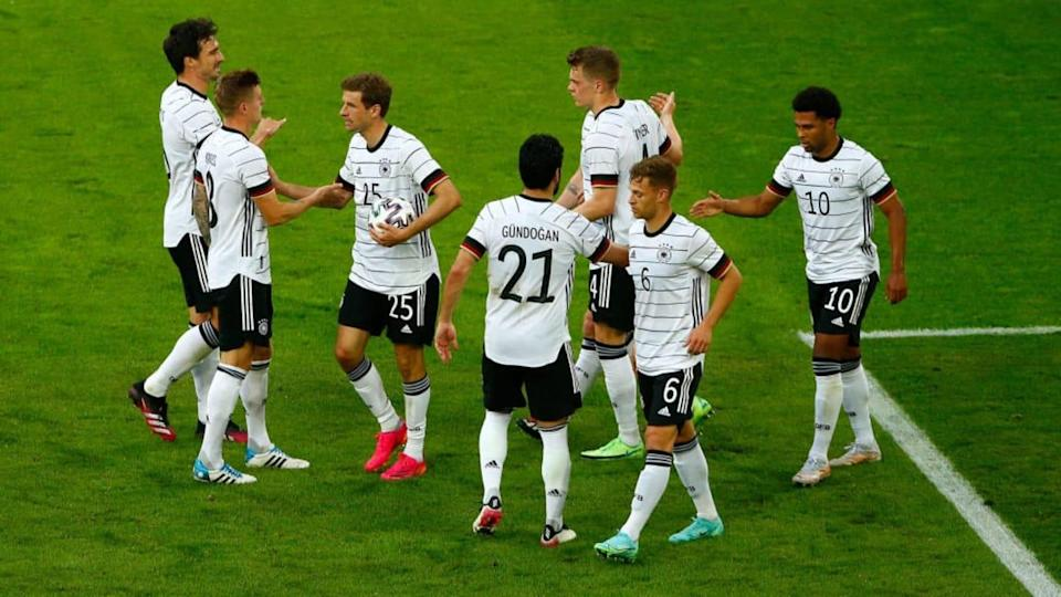 Alemania goleó 7-1 a Letonia   Pool/Getty Images