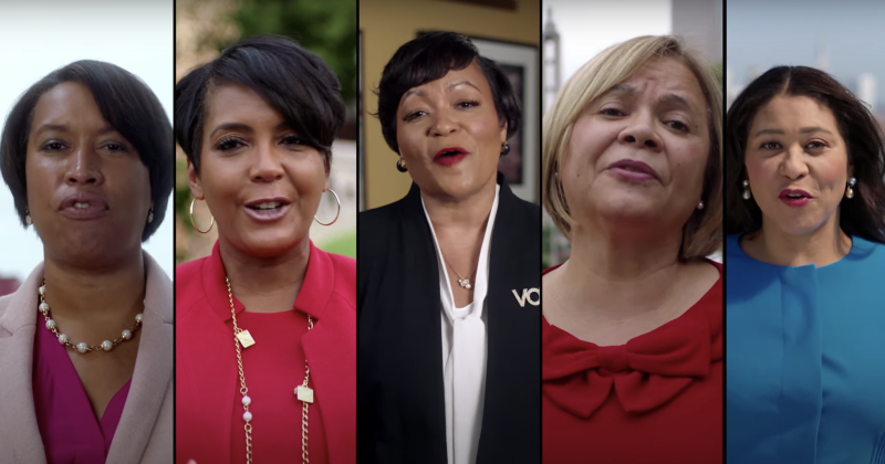 Black mayors from major U.S. cities urge black voters to turn out in new Biden ad.