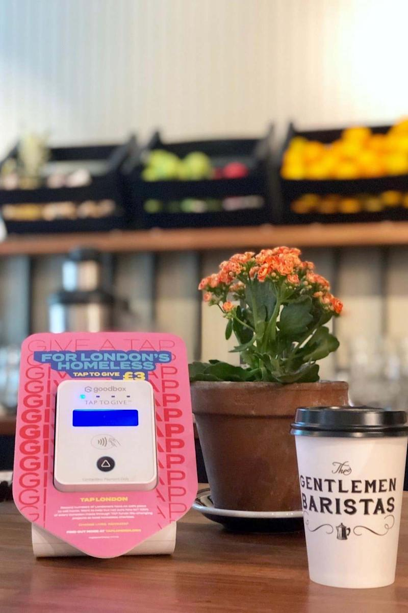 The independent coffee shops The Gentlemen Baristas have raised £15,000 through TAP's donation points (TAP )