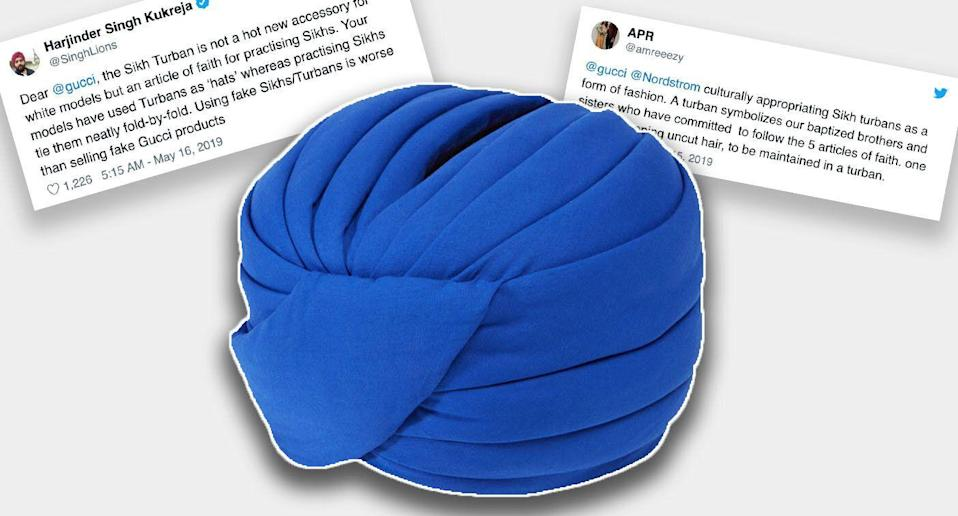 Gucci's high-fashion turban has not gone down well. [Photo: Nordstrom/Twitter]
