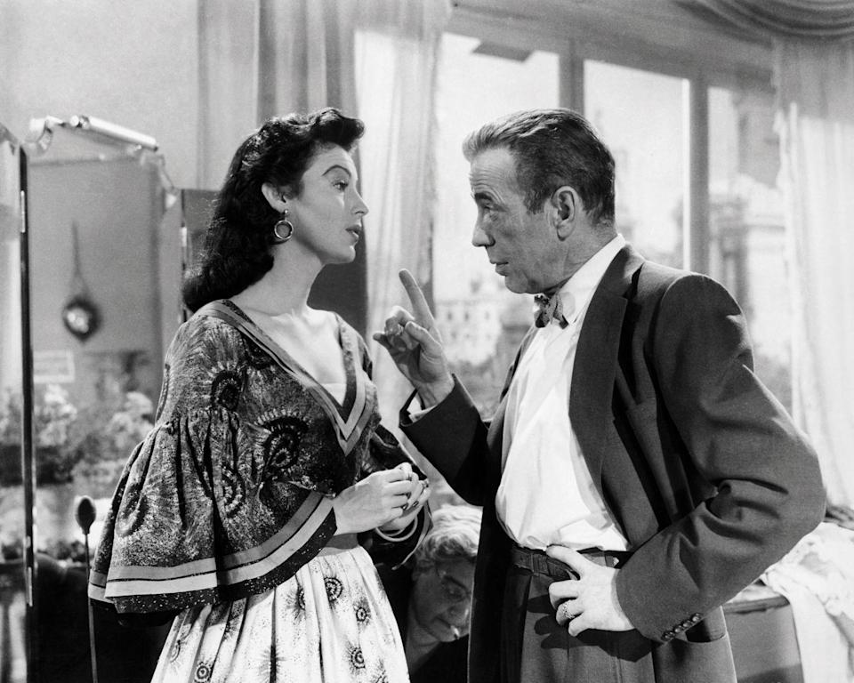 <p>Gardner and Humphrey Bogart act a scene in <em>The Barefoot Contessa</em>, which was directed by Joseph Mankiewicz and turned out to be one of her most iconic roles. <br></p>