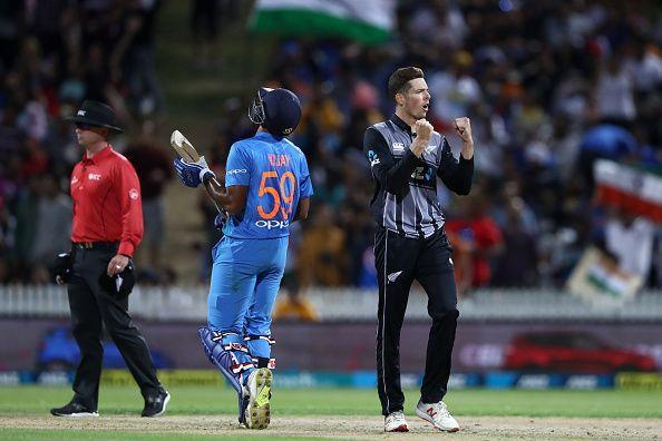 The New Zealand bowlers picked wickets regularly to derail India's run-chas