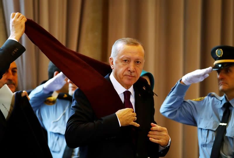 Erdogan says world cares more about Syria's oil than its children