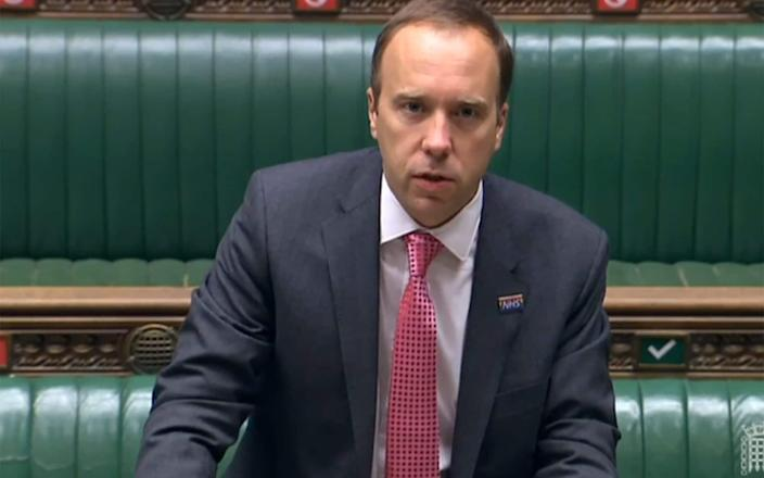 The Health Secretary told the Commons today that there will need to be prioritisation in testing - AFP