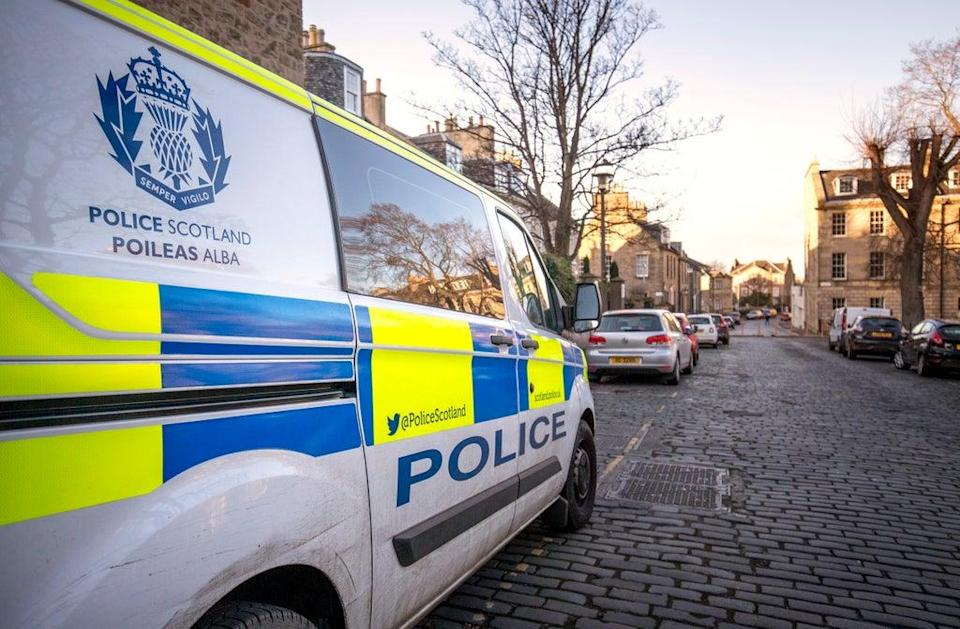 The woman was struck by a marked Police Scotland van (Jane Barlow/PA) (PA Archive)
