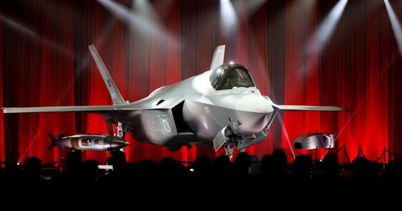 An F-35 fighter jet is seen as Turkey takes delivery of its first F-35 fighter jet with a ceremony in Forth Worth, Texas, USA on June 21, 2018. Two such planes destined for Turkey are yet to leave American soil.