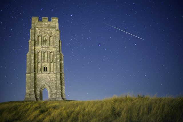 Highly commended (Earth & Space) 'Somerset: Meteor at Midnight, Glastonbury Tor' by Mike Kempsey (UK) A meteor captured streaking across the sky by Glastonbury Tor in Somerset on 12 August 2010 at the peak of the annual Perseid meteor shower. The Perseids is one of the most prolific showers, often with around 80 meteors an hour during its peak. Nevertheless, meteors are hard to catch on camera: the photographer has used a continuous shooting mode so that the camera was photographing non-stop in order to catch this fleeting image.