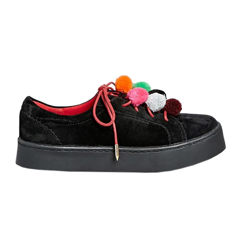 """<a rel=""""nofollow"""" href=""""http://www.anrdoezrs.net/links/3550561/type/dlg/http://www.forever21.com/Product/Product.aspx?BR=f21&Category=shoes_sneakers&ProductID=2000115851&VariantID"""">Pom Pom Sneakers, Shoe Republic, $35</a>"""