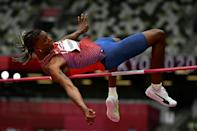 USA's Juvaughn Harrison competes in the men's high jump qualification