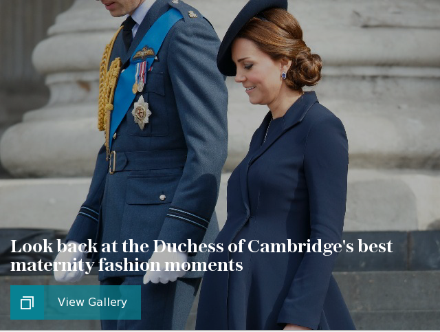 Look back at the Duchess of Cambridge's best maternity fashion moments