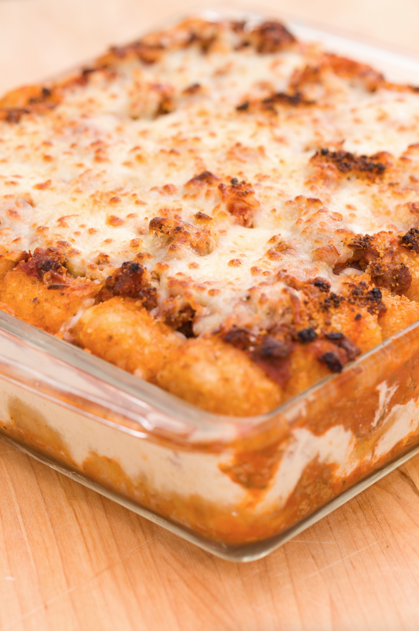 "<p>If you've never made lasagna with tater tots, you're missing out.</p><p>Get the recipe from <a href=""/cooking/recipe-ideas/recipes/a43753/tater-tot-lasagna-totsagna-recipe/"" data-ylk=""slk:Delish"" class=""link rapid-noclick-resp"">Delish</a>.</p>"
