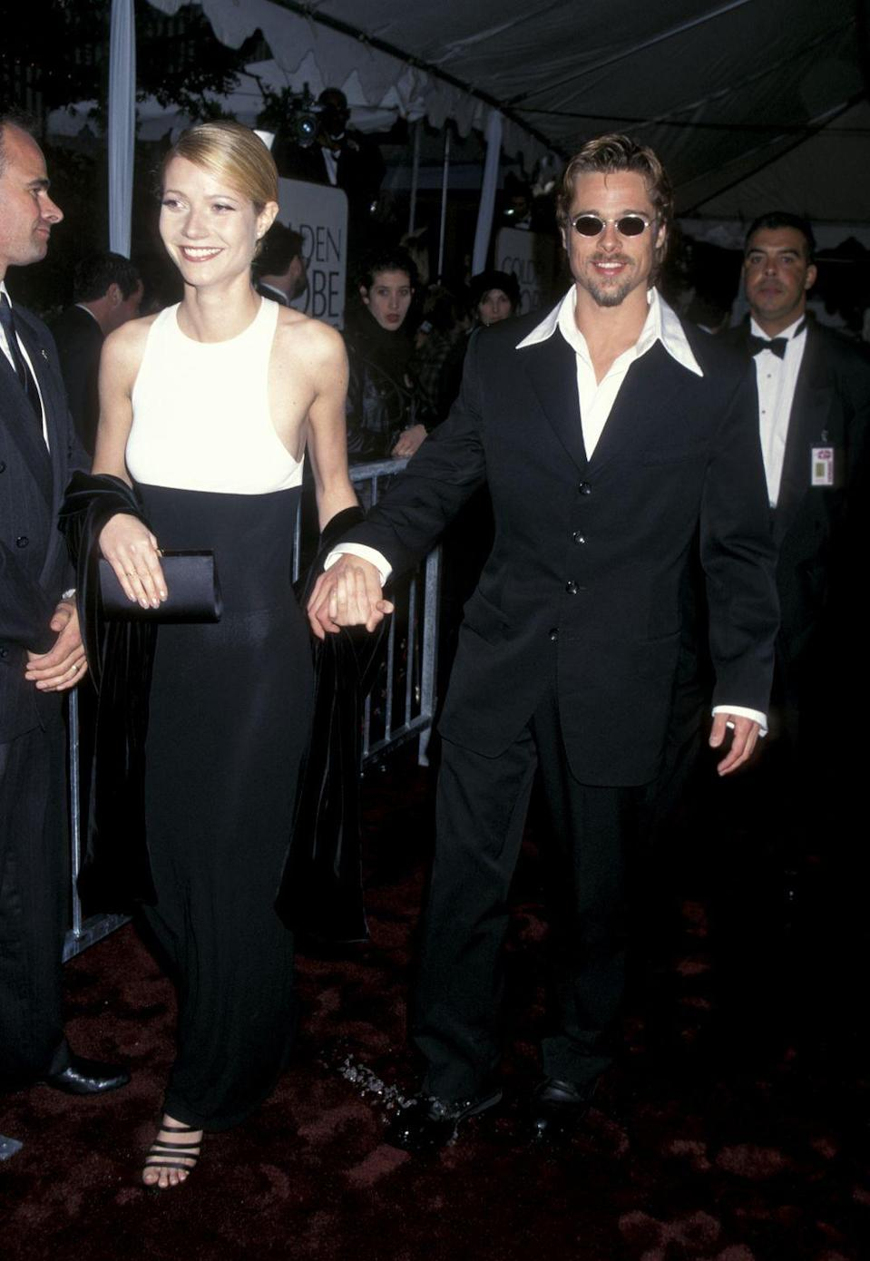 <p>The actor attended the 53rd Annual Golden Globe Awards with Paltrow. He took home the award for Best Supporting Actor that night for <em>Twelve Monkeys</em>. It was Pitt's first and only Golden Globe win to date.</p>
