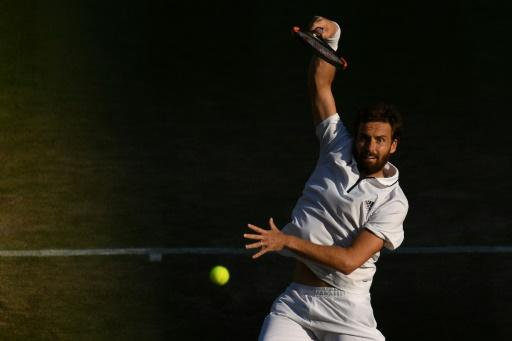 Shock win: Latvia's Ernests Gulbis on his way to beating Alexander Zverev