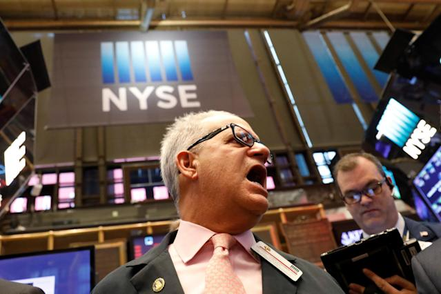 Stocks got hammered on Thursday in another chaotic day of trading. REUTERS/Brendan McDermid
