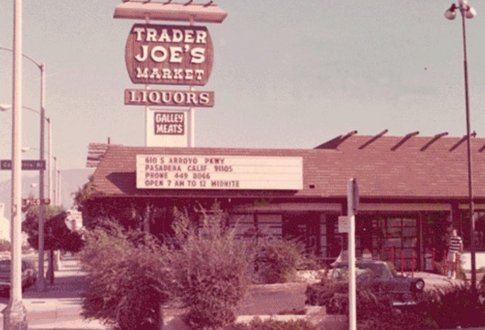 """<p>Trader Joe's was founded in 1967 and the <a href=""""https://www.instagram.com/p/B9KjqDuHYzX/"""" rel=""""nofollow noopener"""" target=""""_blank"""" data-ylk=""""slk:first store"""" class=""""link rapid-noclick-resp"""">first store</a> was located in Pasadena, California. You'll be happy to know it's <a href=""""https://www.traderjoes.com/our-story/timeline"""" rel=""""nofollow noopener"""" target=""""_blank"""" data-ylk=""""slk:still there today"""" class=""""link rapid-noclick-resp"""">still there today</a>. </p>"""