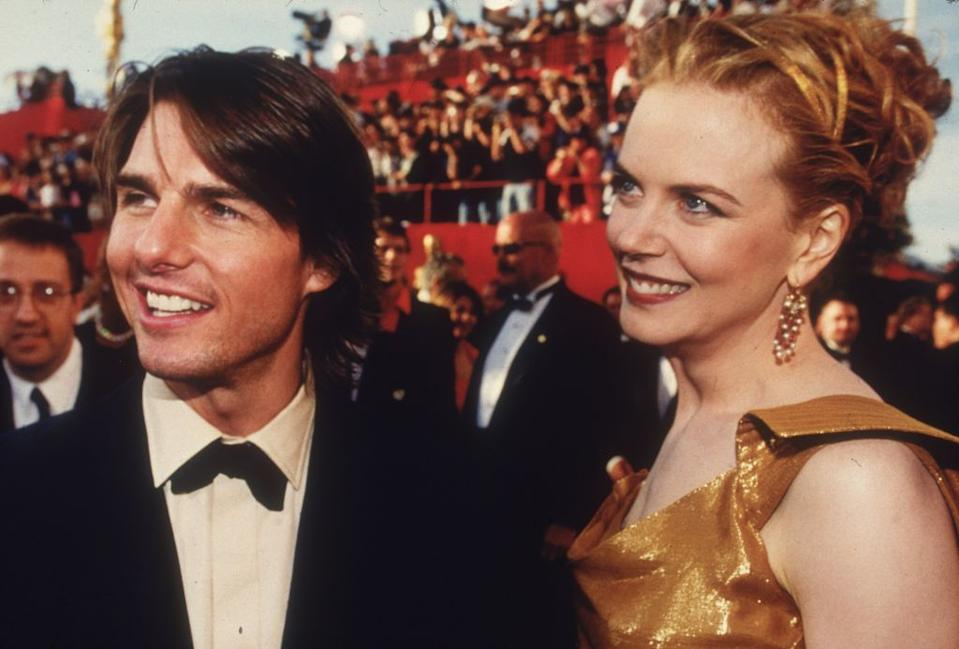 A young Tom Cruise and Nicole Kidman arriving at the Oscars in 2000. Cruise was nominated for Best Supporting Actor for his role in director Paul Thomas Anderson's film, 'Magnolia'. <em>[Photo: Getty]</em>