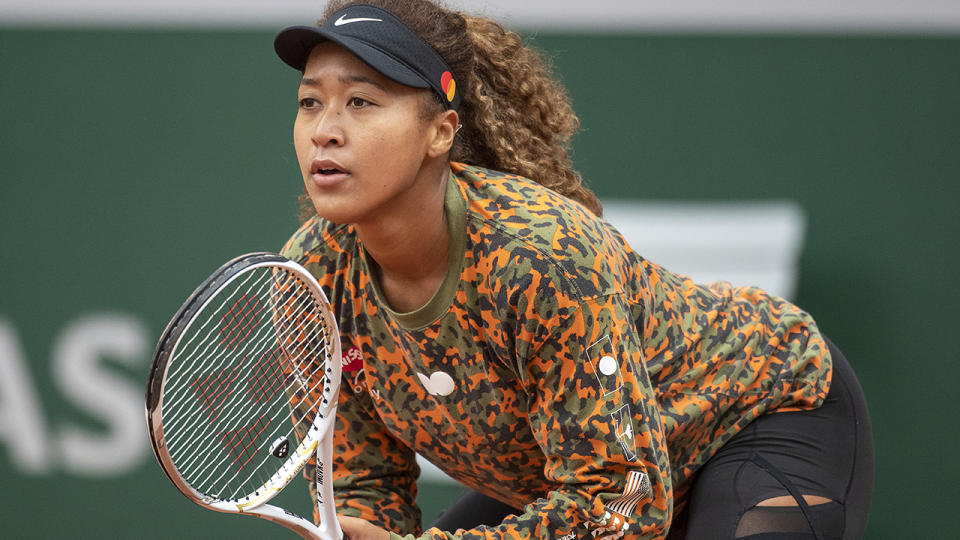 Naomi Osaka withdrew from the French open and skipped Wimbledon after opting not to attend press conferences after games. (Photo by Tim Clayton/Corbis via Getty Images)