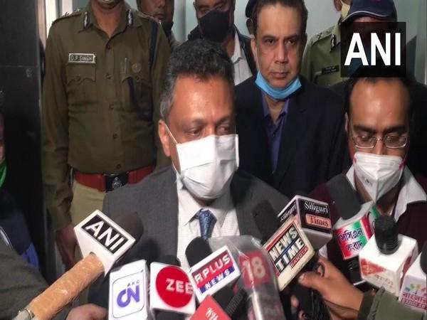 Deputy Election Commissioner Sudeep Jain speaking to reporters in Siliguri on Friday.
