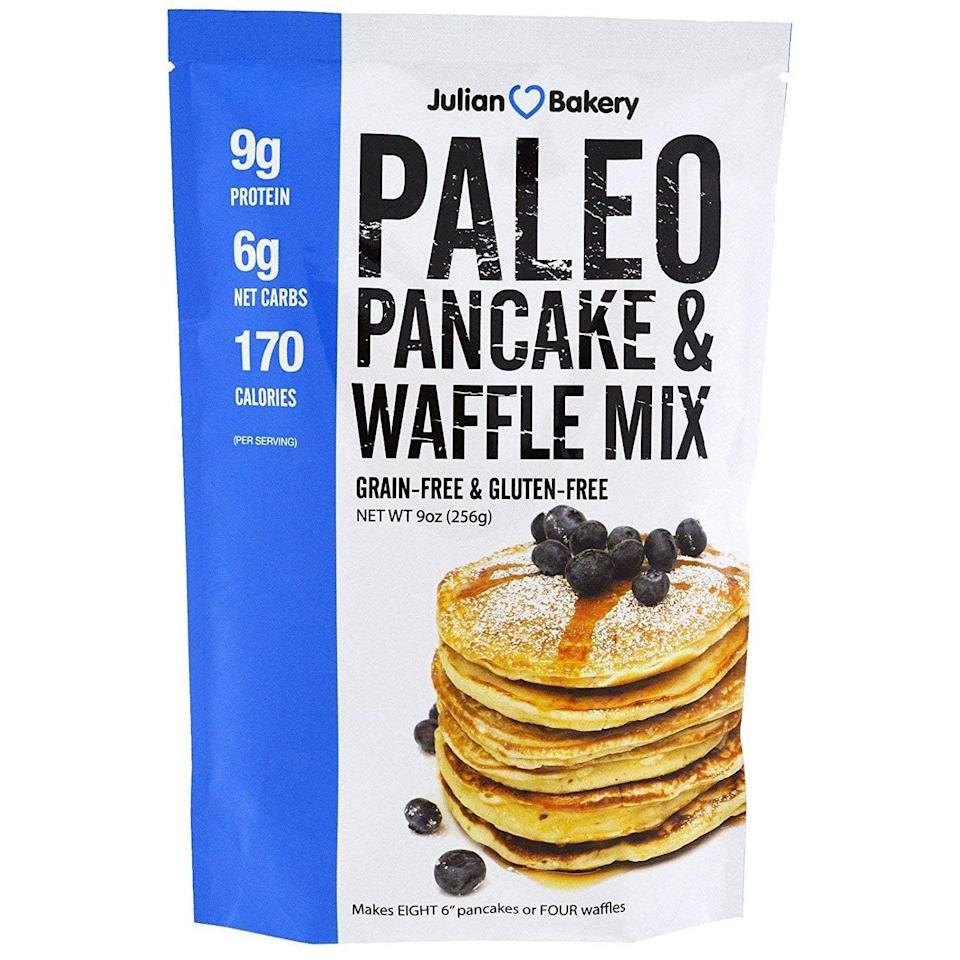 <p>This grain-free, gluten-free <span>Julian Bakery Paleo Pancake & Waffle Mix</span> ($12) is what low-carb dreams are made of, and has only nine grams of net carbohydrates.</p>