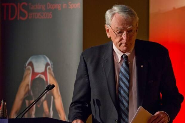 Canadian International Olympic Committee member Dick Pound, seen above in 2016, says the absence of public spectators for Friday's opening ceremony is