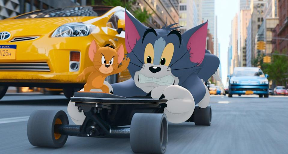 TOM AND JERRY, (aka TOM & JERRY), from left: Jerry Mouse, Tom Cat, 2021.    Warner Bros. / Courtesy Everett Collection