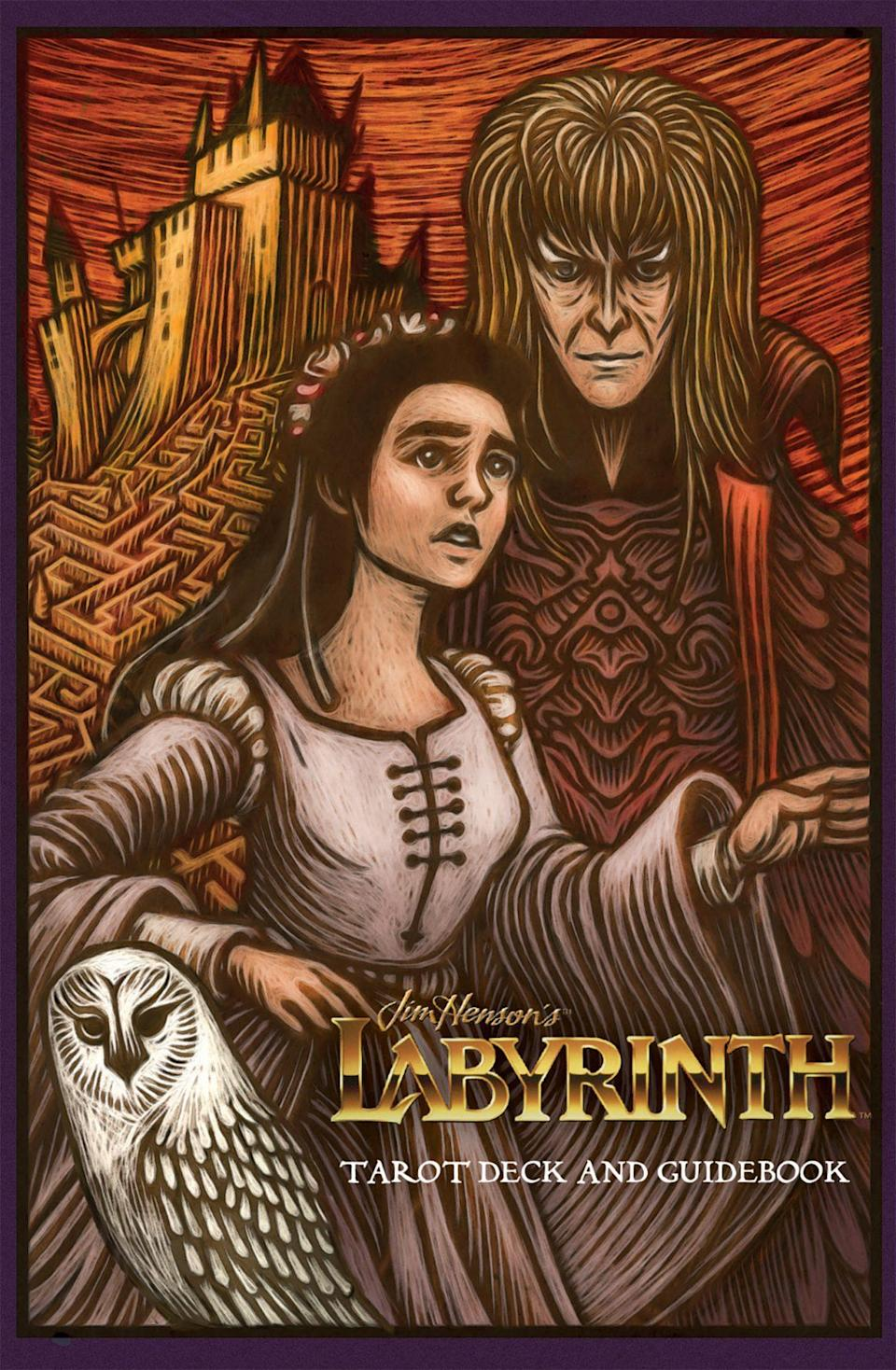 The illustrated cover of the Labyrinth tarot deck