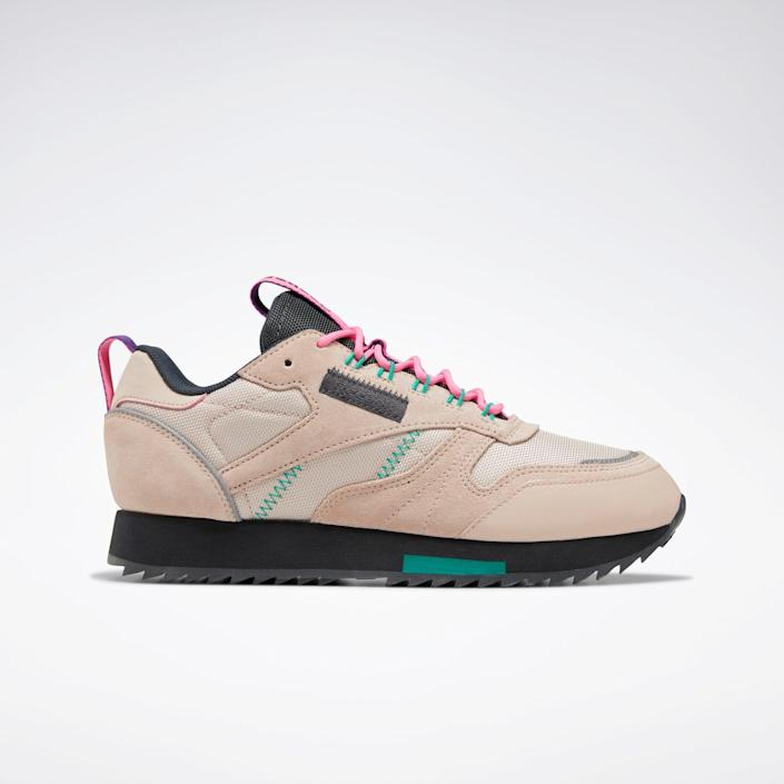 "<br> <br> <strong>Reebok</strong> Leather Ripple Trail Sneaker, $, available at <a href=""https://go.skimresources.com/?id=30283X879131&url=https%3A%2F%2Fwww.reebok.com%2Fus%2Fclassic-leather-ripple-trail-womens-shoes%2FEG6669.html"" rel=""nofollow noopener"" target=""_blank"" data-ylk=""slk:Reebook"" class=""link rapid-noclick-resp"">Reebook</a>"