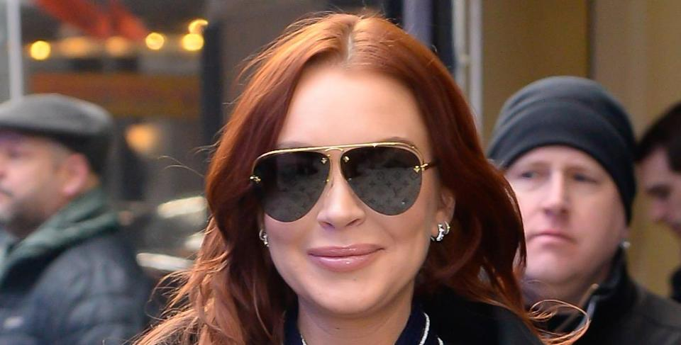 NEW YORK, NY - JANUARY 07:  Actress Lindsay Lohan is seen outside Good Morning America on January 7, 2019 in New York City.  (Photo by Raymond Hall/GC Images)