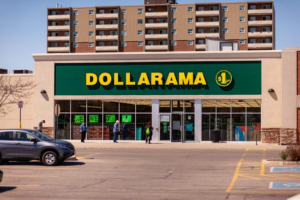 A Dollarama discount store in London, Ont, on May 13, 2020. THE CANADIAN PRESS IMAGES/Mark Spowart