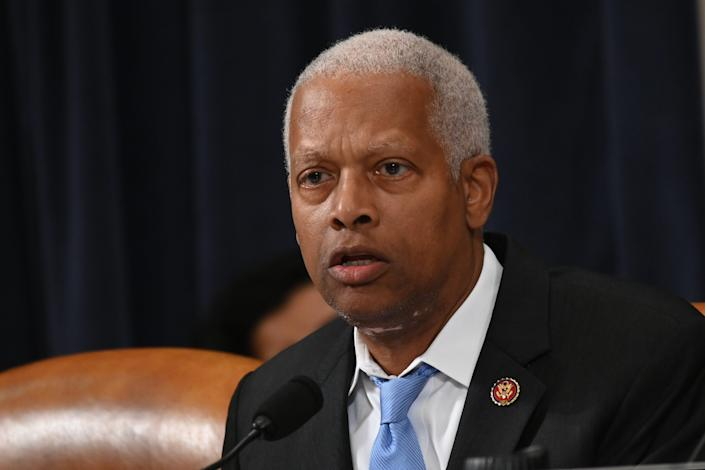 Rep. Hank Johnson, D-Ga., gives his opening statement as the House Judiciary Committee meets to markup Articles of Impeachment against President Donald Trump.