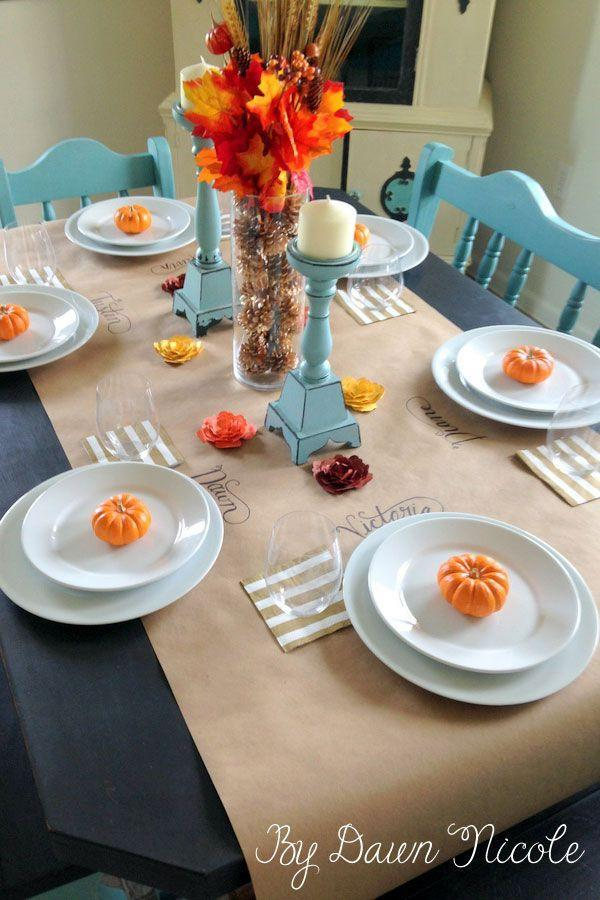 "<p>Use your creativity to give the kid's Thanksgiving table a set-up that's as entertaining as it is cute. </p><p><strong>Get the tutorial at <a href=""http://bydawnnicole.com/2014/11/kraft-paper-table-runner.html"" rel=""nofollow noopener"" target=""_blank"" data-ylk=""slk:By Dawn Nicole"" class=""link rapid-noclick-resp"">By Dawn Nicole</a>.</strong> </p><p><a class=""link rapid-noclick-resp"" href=""https://www.amazon.com/Paper-Wrapping-Shipping-Covering-Recycled/dp/B0788YRV9V/?tag=syn-yahoo-20&ascsubtag=%5Bartid%7C10050.g.1201%5Bsrc%7Cyahoo-us"" rel=""nofollow noopener"" target=""_blank"" data-ylk=""slk:SHOP BROWN PAPER"">SHOP BROWN PAPER</a></p>"