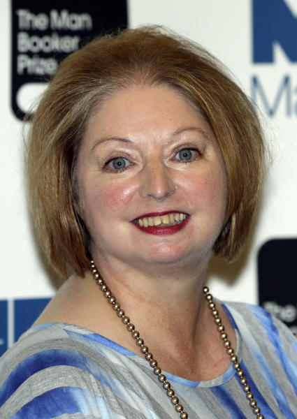 Hilary Mantel, winner of the Man Booker Prize for Fiction, poses for the photographers shortly after the award ceremony in central London, Tuesday, Oct. 16, 2012. Mantel, won the 50,000 British pounds (80,000 US dollars) prize with her book 'Bring up the Bodies'. (AP Photo/Lefteris Pitarakis)