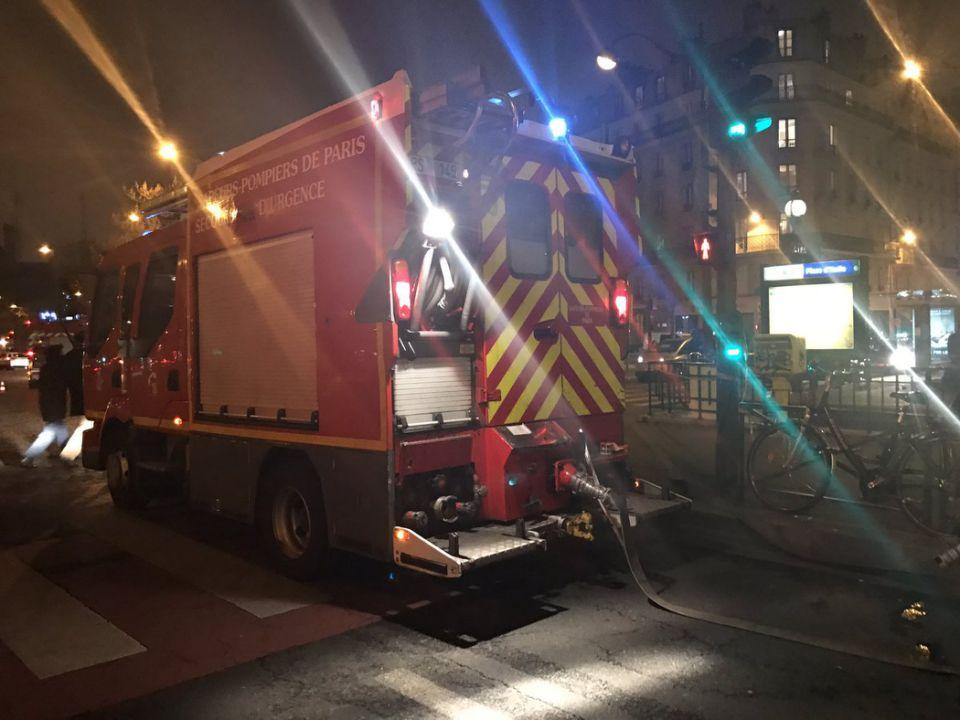 Two people were injured in the incident in Paris. Photo: