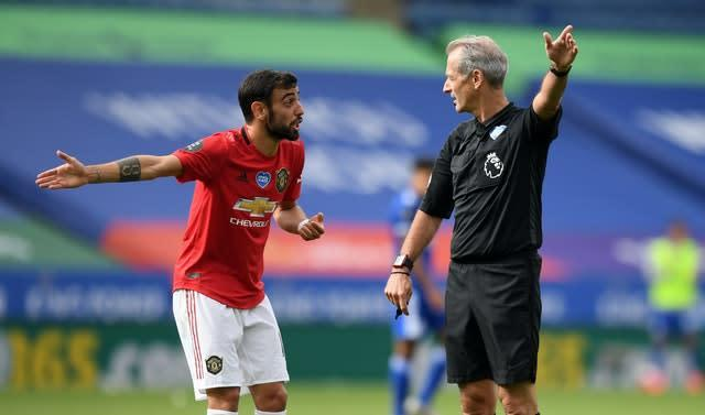 Bruno Fernandes saw a goal ruled out for offside (Michael Regan/PA)
