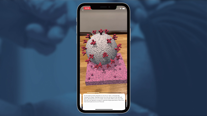 USA Today shows COVID-19 mRNA vaccine in augmented reality