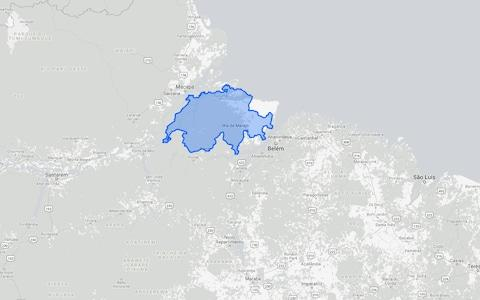 It is the size of Switzerland