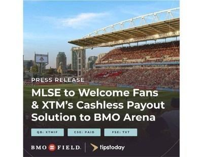 XTM and Tipstoday open with MLSE at BMO Field (CNW Group/XTM Inc.)