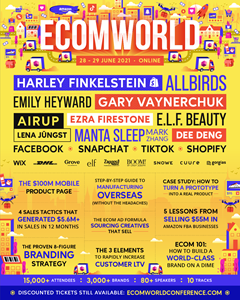 The Ecom World Conference, the world's largest e-commerce event, takes place June 28-29, 2021