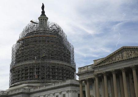 US Capitol Dome and Senate Chamber are seen on election day in Washington