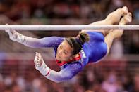 <p>Lee most recently became the national bar champion this year and came in second place in the all-around and beam at Nationals behind Biles. She represented the US at the 2019 World Championships, where she won gold in the team final, silver in the floor final, and bronze in the bars final. The 18-year-old is committed to Auburn University.</p>