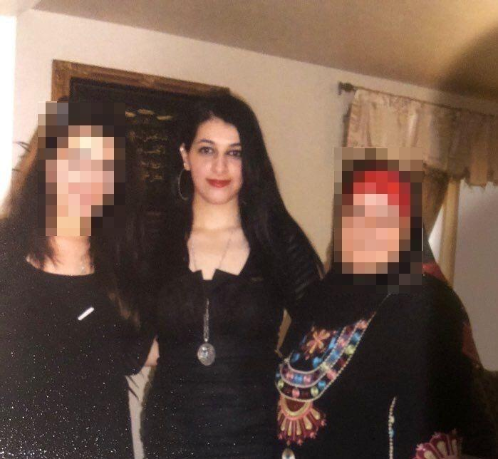 Salman is pictured with relatives. Many said that although they supported her, they were scared to come to the trial. (Photo: Family handout)