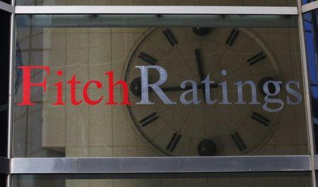 Un reloj en la sede de Fitch Ratings en Nueva York